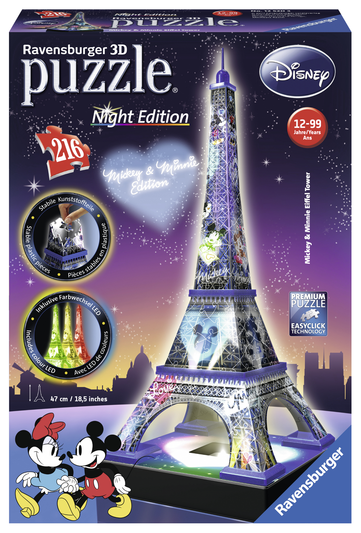 Puzzle 3d Turnul Eiffel 216 piese