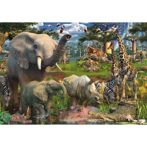 PUZZLE ANIMALE IN SALBATICIE 18000 PIESE