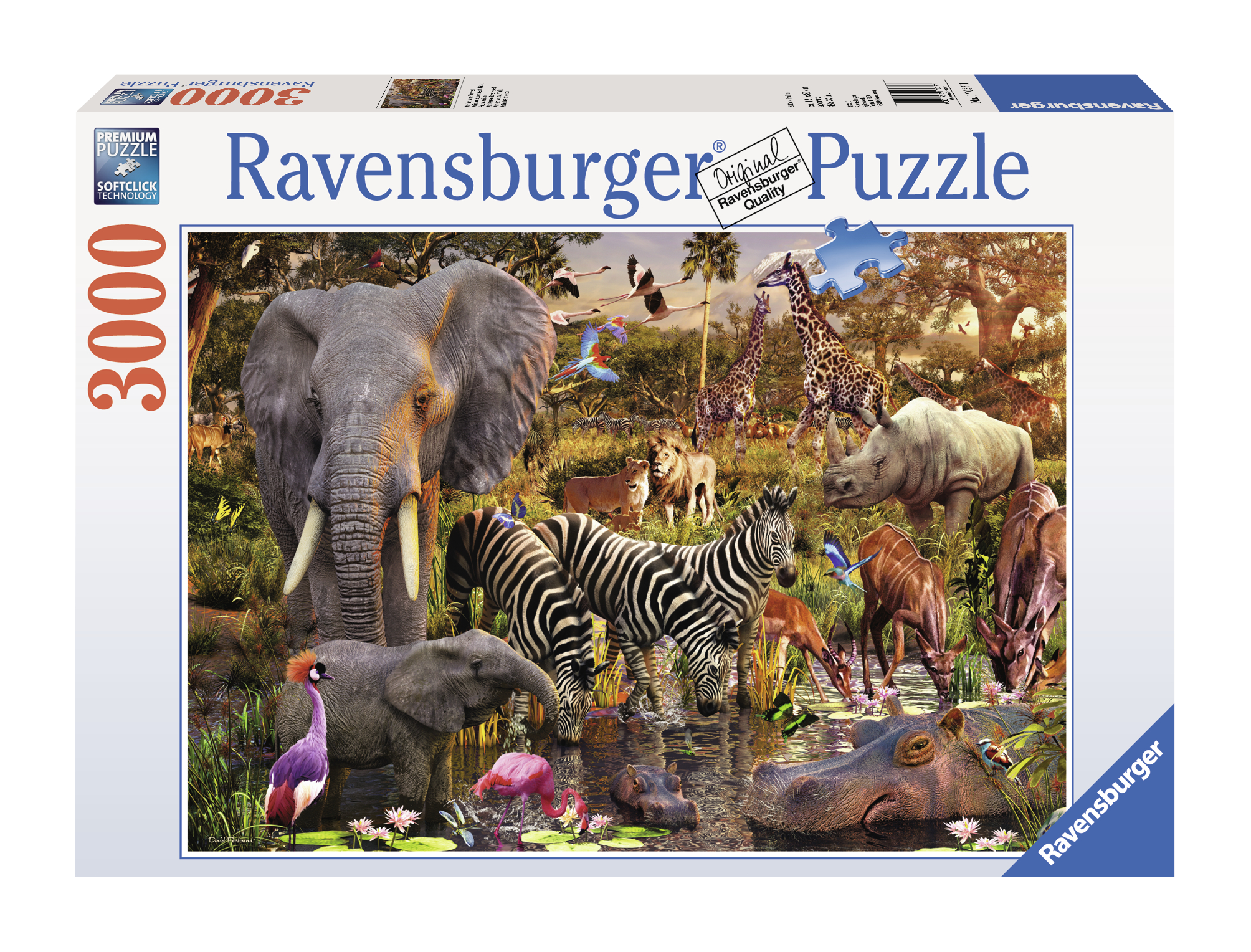 PUZZLE ANIMALE DIN AFRICA 3000 PIESE
