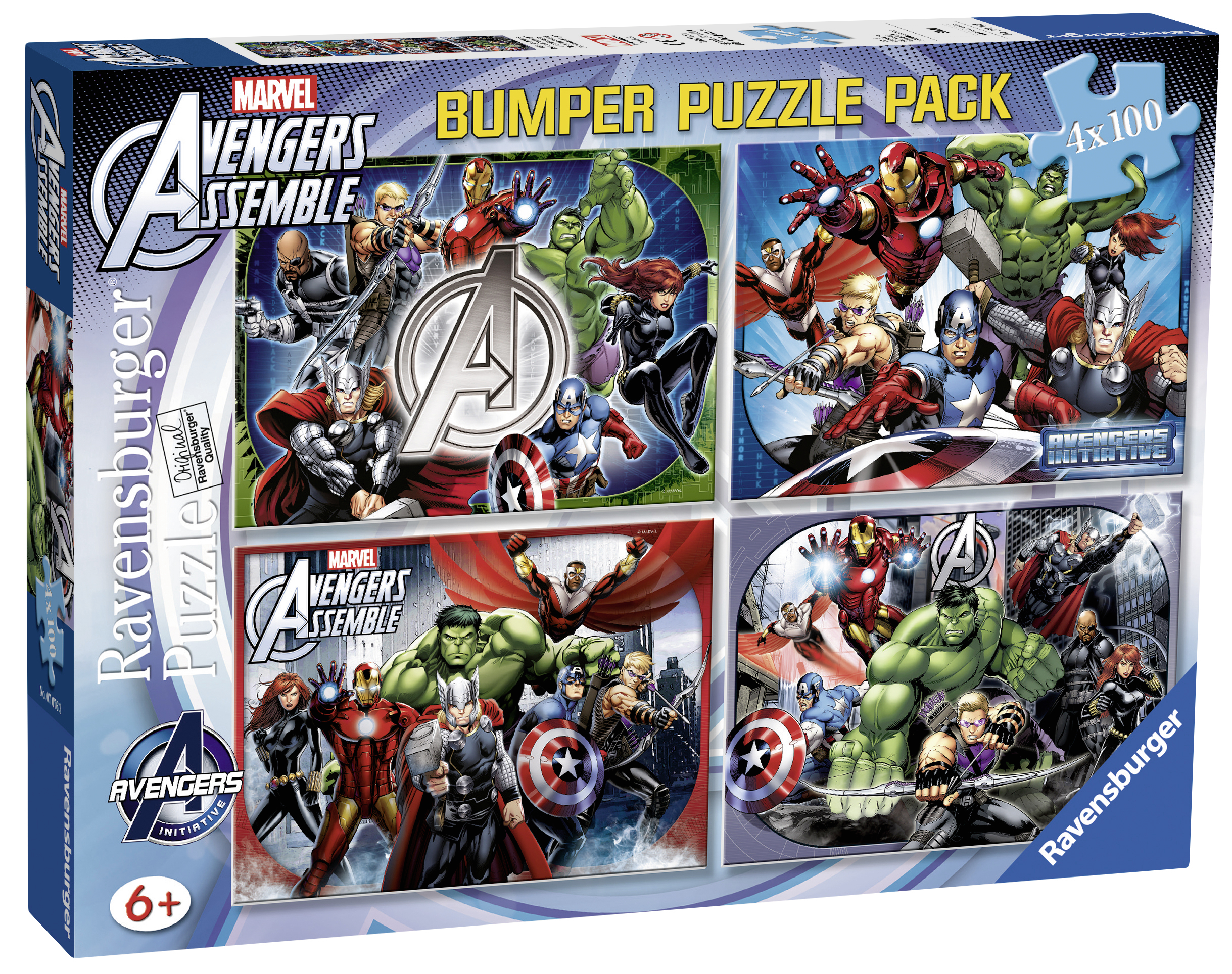 PUZZLE AVENGERS 4x100 PIESE